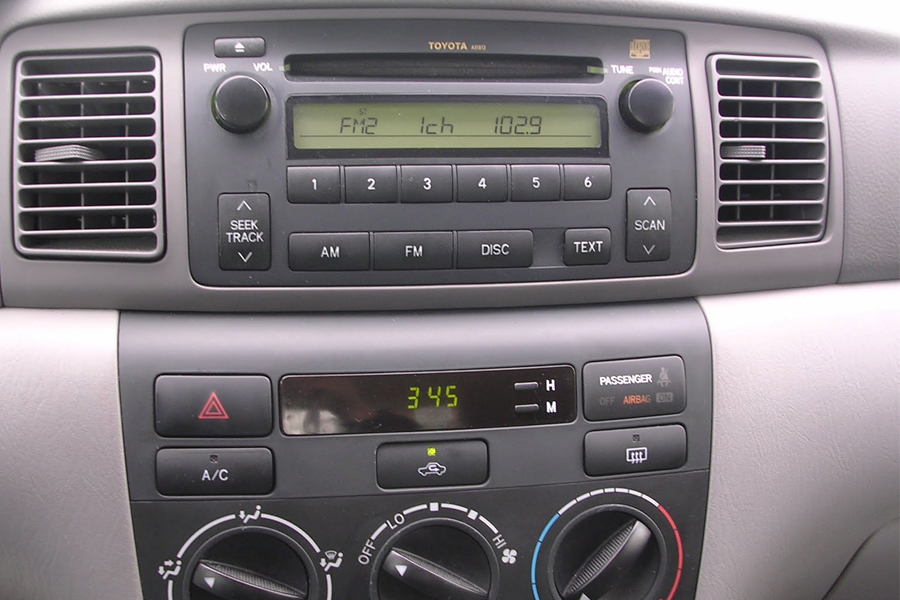 2003 toyota corolla aux input. Black Bedroom Furniture Sets. Home Design Ideas
