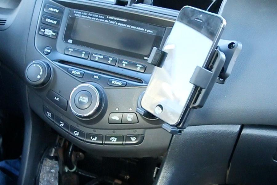 honda accord   premium phone holder dash mount swivel gta car kits