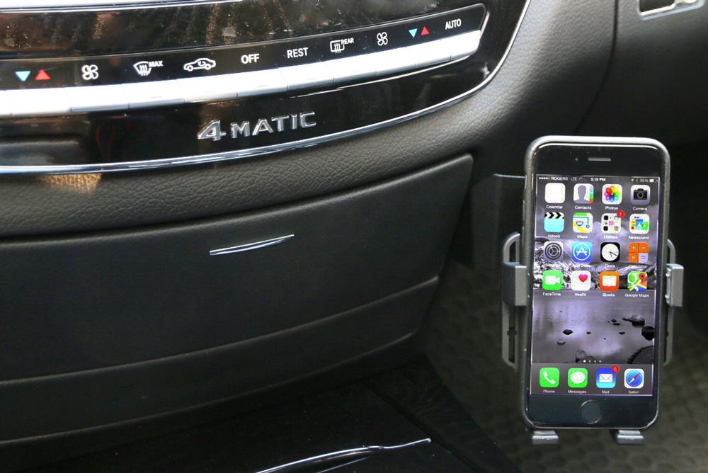 Mercedes s class 2007 2013 w221 premium phone holder for Mercedes benz phone cradle